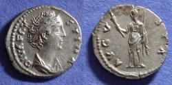 Ancient Coins - Roman Empire, Faustina Sr D. 141, Denarius