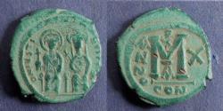 Ancient Coins - Byzantine Empire, Justin II 565-78, Follis