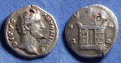Ancient Coins - Roman Empire, Divus Antoninus Pius 138-161, Silver coated bronze Fourree Denarius