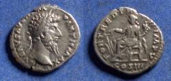 Ancient Coins - Roman Empire, Lucius Verus 161-9, Silver Denarius