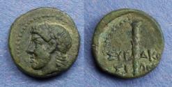 Ancient Coins - Sicily Syracuse, Roman Rule Circa 200 BC, AE15