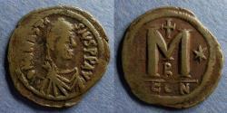 Ancient Coins - Byzantine Emipre, Anastasius 491-521, 38mm Follis