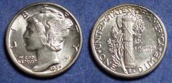 Us Coins - United States,  1927, Silver Mercury Dime, MS63