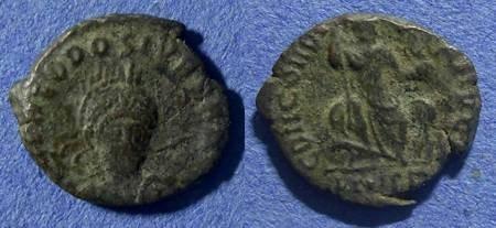 Ancient Coins - Roman Empire, Theodosius II 402-450, AE3/4