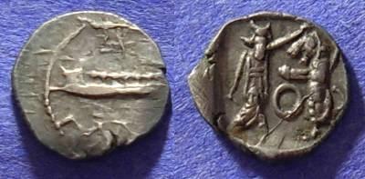 Ancient Coins - Sidon Phoenicia - 1/8 Shekel  Circa 350 BC