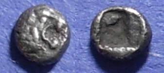 Ancient Coins - Ionia, Uncertain Circa 550 BC, Tetartemorion