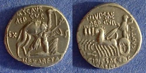 Ancient Coins - Roman Republic Denarius - Aemilia 8 58BC