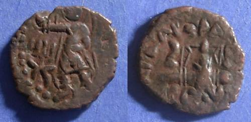 Ancient Coins - Kushan, Huvishka Circa 150, AE21