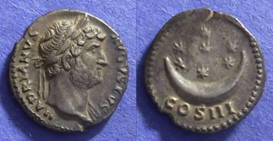Ancient Coins - Hadrian  117-138 AD – Denarius