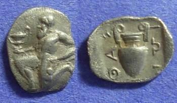 Ancient Coins - Thasos – Island off Thrace: Circa 400BC Trihemiobol