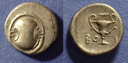 Ancient Coins - Boeotia - Thebes  Hemidrachm 379-321 BC