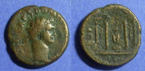 Ancient Coins - Corinth, Domitian 81-96 AD, AE20