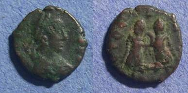 Ancient Coins - Roman Empire, Valentinian III 425-455, AE 4
