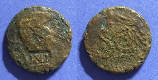 Ancient Coins - Antioch, Legion XII Fulminata Counterstamp Circa 50 AD,