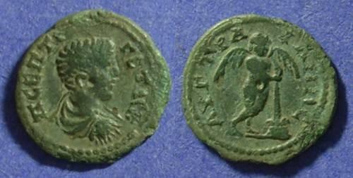 Ancient Coins - Augusta Traiana, Thrace AE18 – Geta 198-208