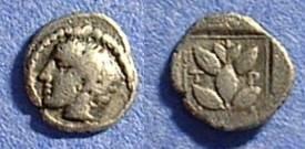 Ancient Coins - Trierus Thrace - Hemiobol 450-400 BC