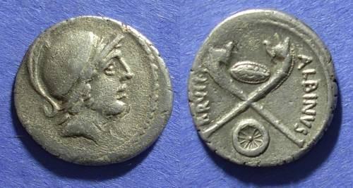 Ancient Coins - Roman Republic, Albinus Bruti f. 48 BC, Denarius