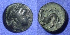 Ancient Coins - Nesos – Island off of Lesbos – AE9 – Circa 350BC
