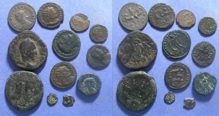 Ancient Coins - Roman Empire, Republic to 5th Century , 12  coins