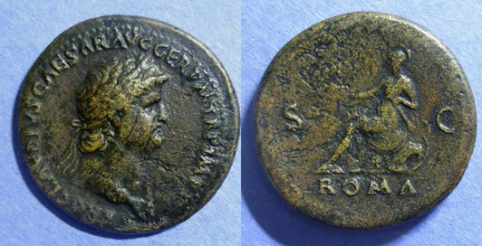 Ancient Coins - Roman Empire, Nero 54-68, Sestertius