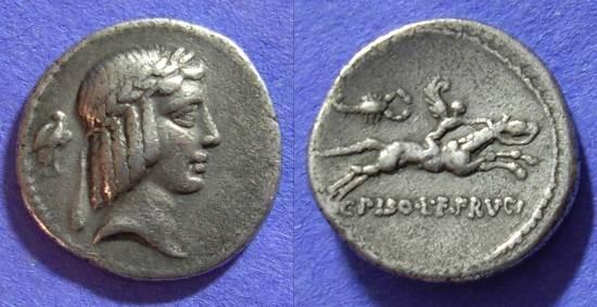 Ancient Coins - Roman Republic – Calpurnia 24L Denarius 67BC