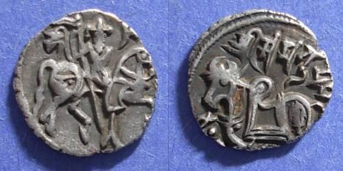 Ancient Coins - Guptas, Samanta Deva Circa 900 AD, Drachm
