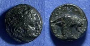 Ancient Coins - Aegae, Aiolis Circa 150 BC, AE9
