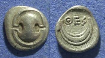 Ancient Coins - Boeotia, Thespiae 431-424 BC, Obol