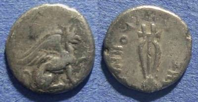 Ancient Coins - Ionia, Teos 375-370 BC, Diobol