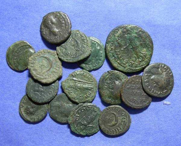 Ancient Coins - 15 Roman Provicial AE's