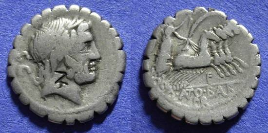 Ancient Coins - Roman Republic - Denarius - 83-2BC Antonia 1