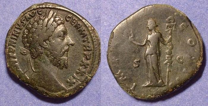 Ancient Coins - Marcus Aurelius 161-180 AD - Sestertius