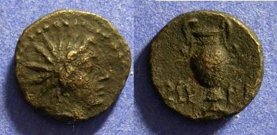 Ancient Coins - Myrina Aeolis - AE11 - 2nd Century BC