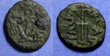 Ancient Coins - Lucania, Paestum Circa 75 BC, Semis