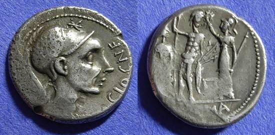 Ancient Coins - Roman Republic - Denarius 112-111 BC - Cornelia 19