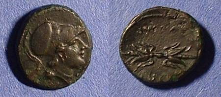 Ancient Coins - Syracuse Sicily AE-13 Agathocles 317-289 BC