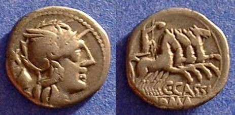 Ancient Coins - Republic Denarius - Cassia 1 - 126 BC