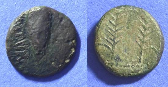 Ancient Coins - Ostur Spain - AE18 Circa 150-100 BC