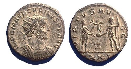 Ancient Coins - Carinus as Augustus 283-5 Silvered Antoninianus
