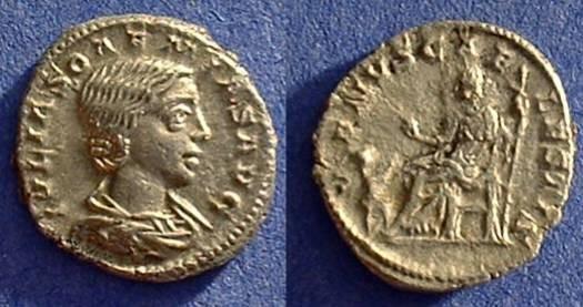 Ancient Coins - Julia Soaemias (Mother of Elagabalus) 218-222 - Denarius