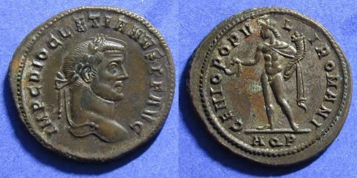 Ancient Coins - Diocletian 284-305AD - Follis - Aquileia mint