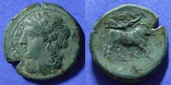 Ancient Coins - Neapolis Campania - AE22 - 275-250 BC