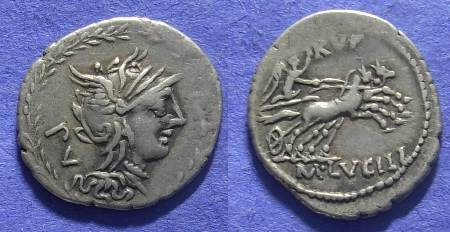Ancient Coins - Roman Republic – Lucilia 1 -  101 BC