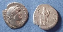 Ancient Coins - Roman Empire, Hadrian 117-138 BC, Denarius