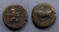 Ancient Coins - Balearic Islands, Ebusus Circa 150 BC, Quarter unit