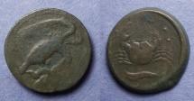 Ancient Coins - Sicily, Akragas 420-406 BC, Hemilitron