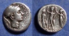 Ancient Coins - Roman Republic, Cn Blasio Cn f 112-111 BC, Denarius