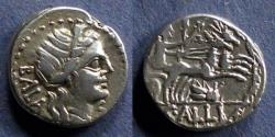 Ancient Coins - Roman Republic, C Allius Bala 92 BC, Denarius