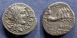 Ancient Coins - Roman Republic, Q Curtius 116-5 BC, Denarius