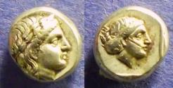 Ancient Coins - Lesbos, Mytilene 377-326 BC, Hekte